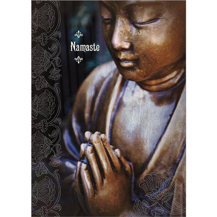 Namaste Bronze Buddha Greeting Card