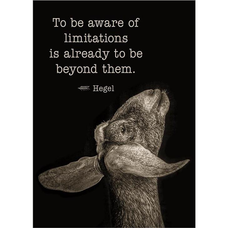 Aware of Limitations Greeting Card