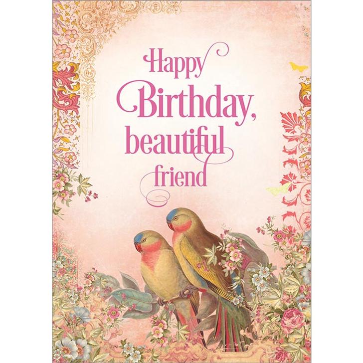 Happy Birthday, Beautiful Friend Greeting Card