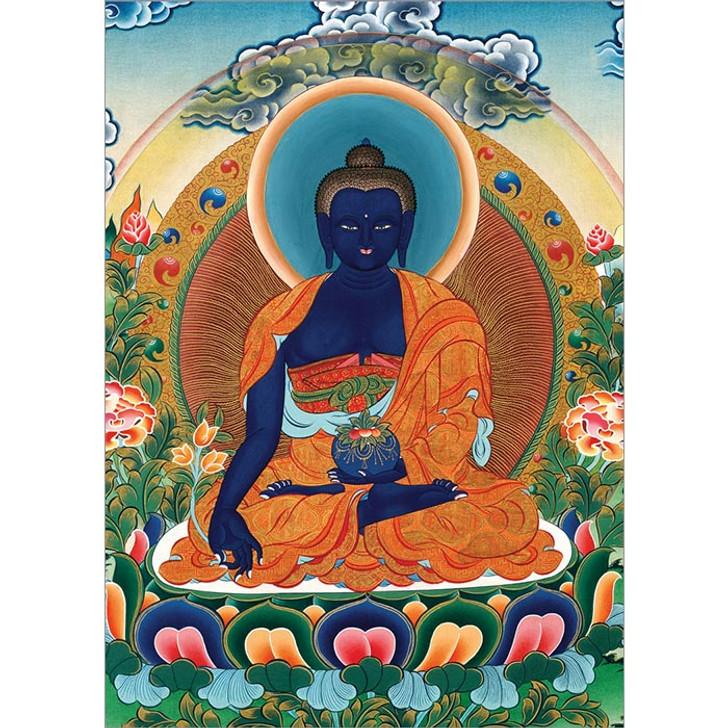 Medicine Buddha Detail Greeting Card