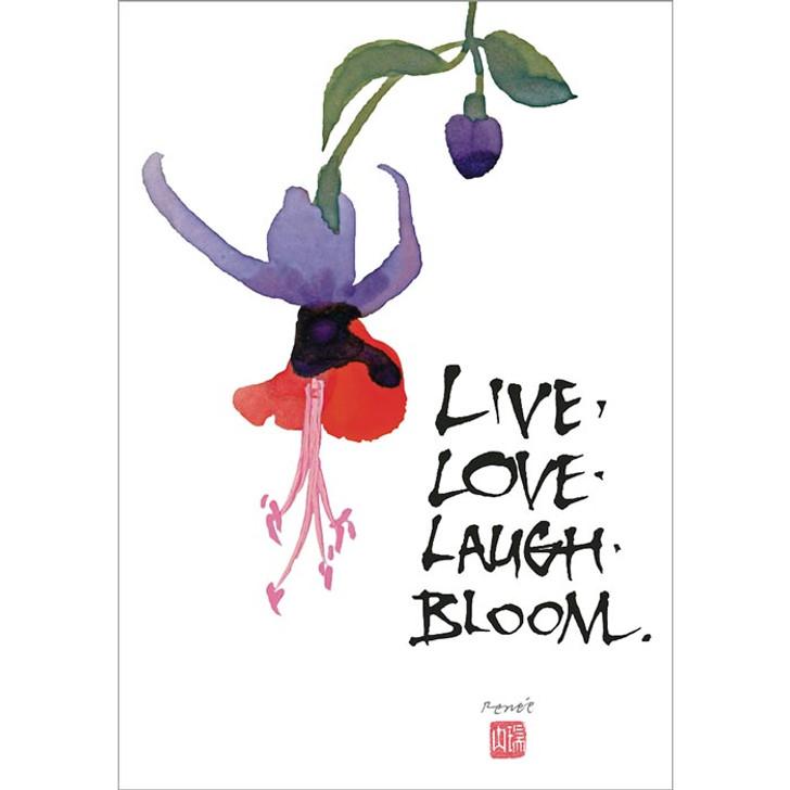 Live. Love. Laugh. Bloom. Greeting Card