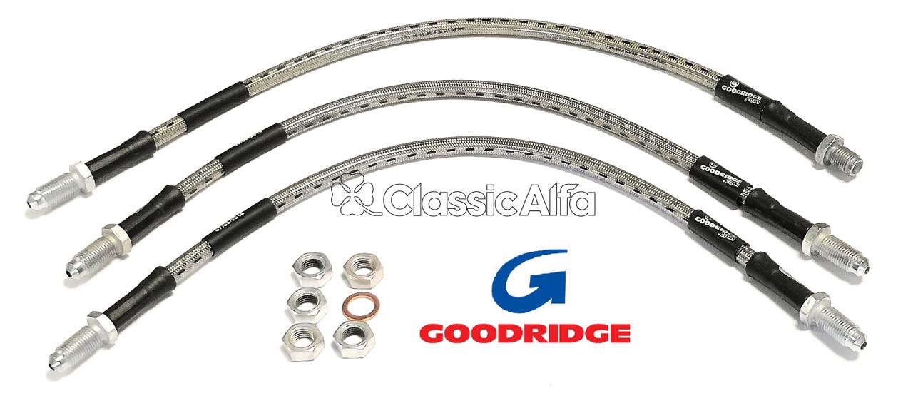 Goodridge For Alfa Romeo 2000 GTV Braided Brake Kit Lines Hoses