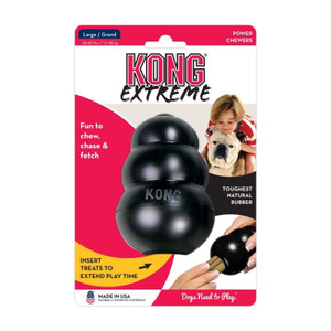 KONG Company The Original Xtreme KONG Large has world's strongest dog tough rubber for aggressive chewing dog