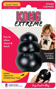 KONG Extreme Small has world's strongest dog tough rubber for aggressive chewing dog