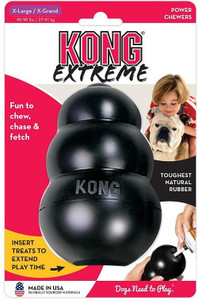 KONG Company Extreme KONG Extra Large has world's strongest dog tough rubber for aggressive chewing dog