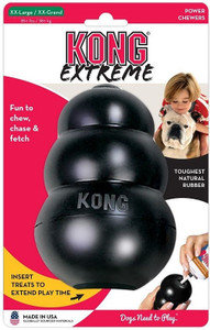 KONG Company Extreme Kong XX- Large has world's strongest dog tough rubber for aggressive chewing dog -Ultra King Kong