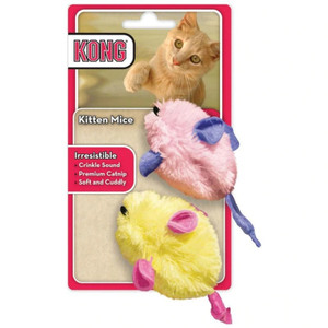 KONG Kitten Catnip Crinkle Mice 2 Pack