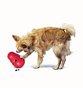 KONG Wobbler Small USA Dog Toy Treat Dispenser or Slow Feeder
