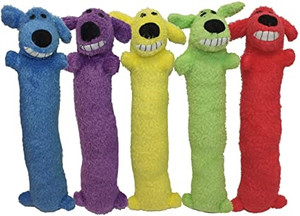 Multipet Loofa Plush Dog Toy