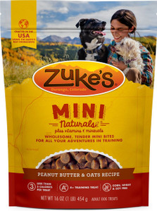 Zuke's Mini Natural Peanut Butter & Oats 16 oz.