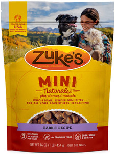 Zuke's Mini Naturals Wild Rabbit Dog Treats 16 Oz