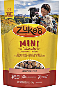 Zuke's Mini Naturals Salmon dog treats-1 lb.