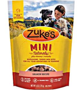Zuke's Mini Naturals Salmon dog treats-6 oz.