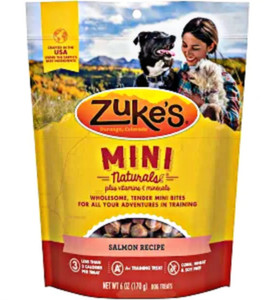 Zuke's Mini Naturals Salmon dog treats-6 oz.