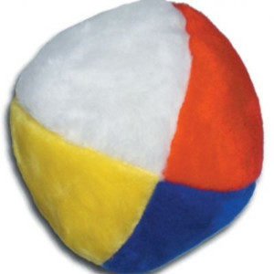 Beachball plush dog toy-Made in USA