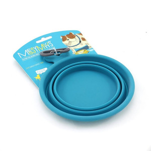 Messy Mutts Silicone Collapsible Bowl Blue