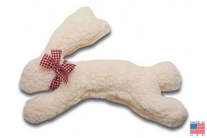 Fleece Bunny plush dog toy-Made in USA