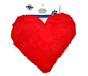 Plus hRed  Heart USA Dog Toy-Medium