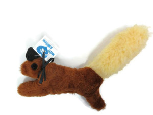 Squirrel plush dog toy-Made in USA