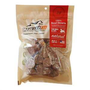 Momentum Carnivore Nutrition Freeze Dried Beef hearts 4 oz.