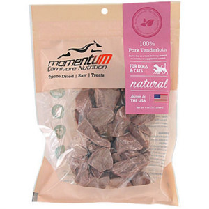 Momentum Carnivore Nutrition Freeze Dried Pork Tenderloin treats for dogs and cats 4 oz.