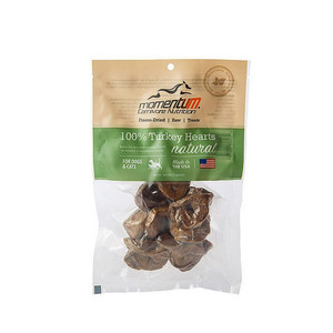 Momentum Carnivore Nutrition Freeze Dried Turkey hearts treats for dogs and cats 1 oz.