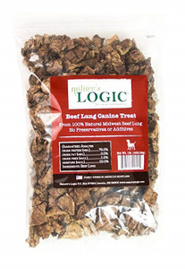 Nature's Logic Beef Lung USA Dog Treats 1 lb.