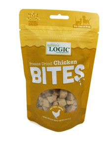 Nature's Logic Freeze-Dried Chicken Bites USA Treats 3 oz.