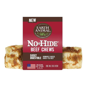 Earth Animal No Hide Beef Dog Chew 4 inch roll