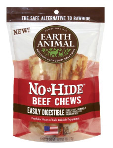 Earth Animal No Hide Beef Chews 4 Inch 2 Pack