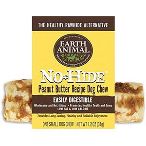 Earth Animal No Hide Peanut Butter Chews 4 Inch