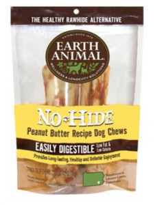 Earth Animal No Hide Peanut Butter Chews 4 Inch 2 Pack