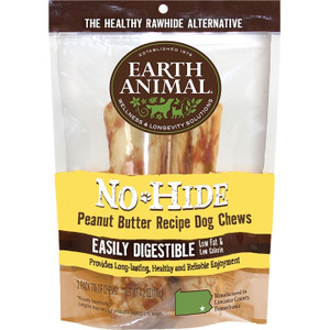 Earth Animal No Hide Peanut Butter Chews 7 Inch 2 Pack