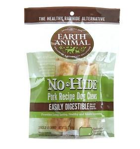 Earth Animal No Hide Pork Dog Chew 4 Inch 2 Pack