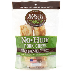 Earth Animal No Hide Pork Dog Chew 7 Inch 2 Pack
