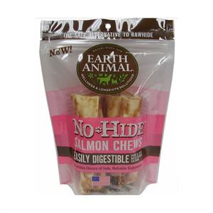 Earth Animal No Hide Salmon Dog Chew 4 Inch 2 Pack