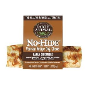 Earth Animal No Hide Venison Dog Chew 4 inch roll