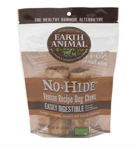 Earth Animal No Hide Venison Dog Chew 4 inch -2 Pack