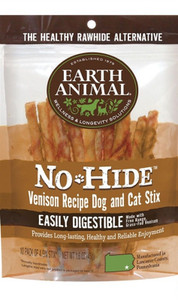 Earth Animal No Hide Venison Dog Chew Stix 10 Pk