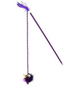 Our Pets Purple RealBird Wand with chirping bird