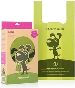 Earth Rated Bio-degradable handle poop bags 120 ct