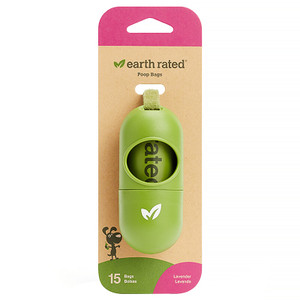 Earth Rated Poop Bags Dispenser with bags