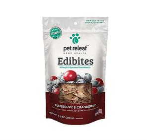 Pet Releaf Blueberry Cranberry CBD Hemp Oil Edibites Regular
