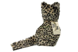 Pretty Kitty Faux Leopard dog toy-Made in USA plush dog toy