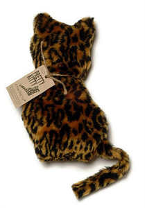 Mini Pretty Kitty Faux Leopard dog toy-Made in USA