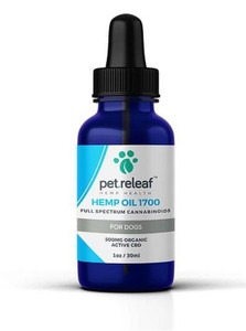 500 MG CBD Hemp Oil (for medium to large breed dogs) by Pet Releaf