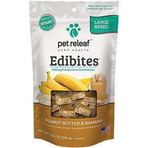 Pet Releaf Edibites Peanut Butter Banana Large Breed