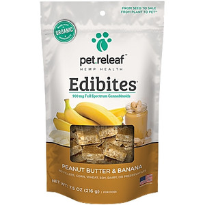 Pet Releaf Peanut Butter Banana Edibites Hip and Joint for Small & Medium Breed