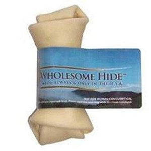 Wholesome Hide Flat Knot rawhide bone 4-5 inch
