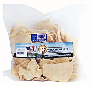Wholesome Hide Large Rawhide Chips-1 lb bag